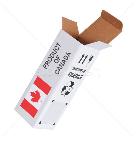 Exportar producto Canadá papel cuadro Foto stock © michaklootwijk
