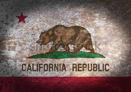 Vlag brandend Californië oorlog crisis brand Stockfoto © michaklootwijk