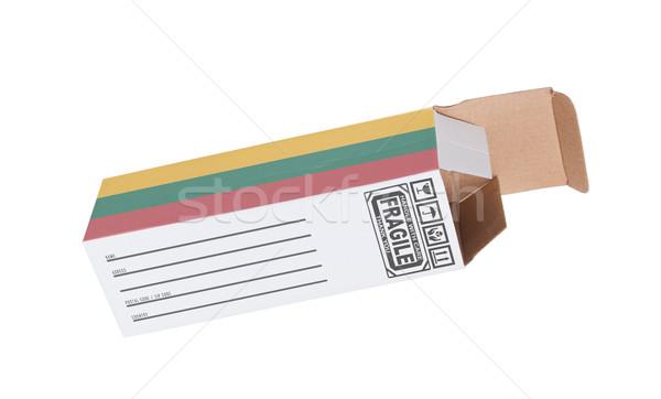エクスポート 製品 リトアニア 紙 ボックス ストックフォト © michaklootwijk