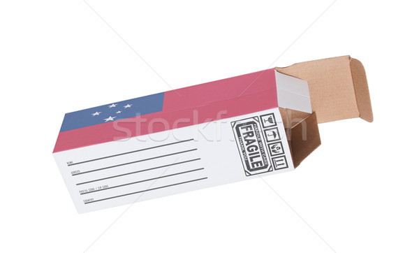 Exportar produto Samoa papel caixa Foto stock © michaklootwijk