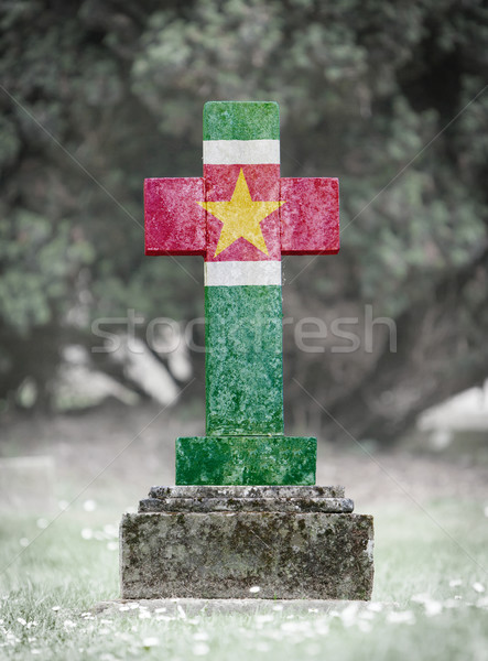 Gravestone in the cemetery - Suriname Stock photo © michaklootwijk