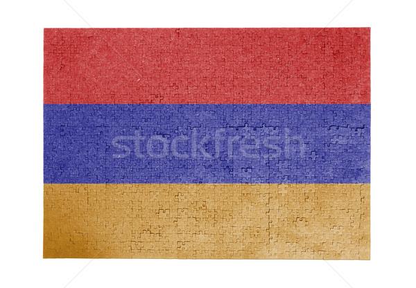 Grande 1000 peças Armênia bandeira Foto stock © michaklootwijk