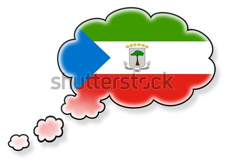 Flag with a trail of fire - Equatorial Guinea Stock photo © michaklootwijk