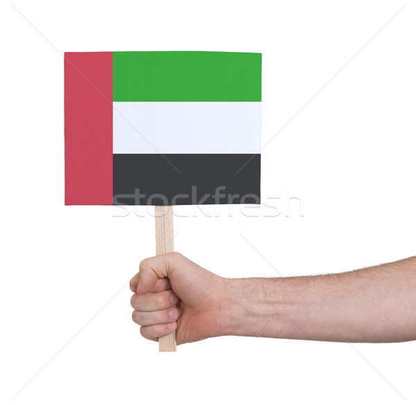 Hand holding small card - Flag of Sudan Stock photo © michaklootwijk