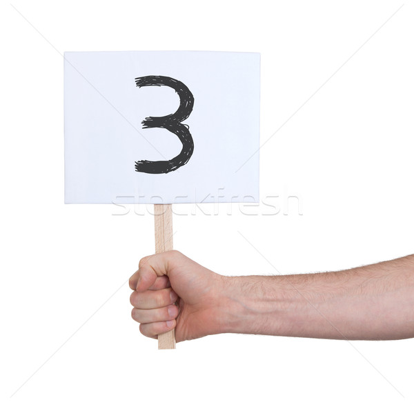 Sign with a number, 3 Stock photo © michaklootwijk