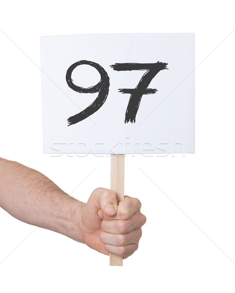 Sign with a number, 97 Stock photo © michaklootwijk