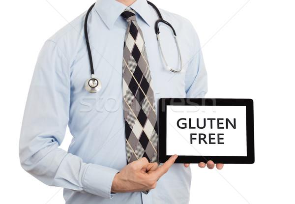 Doktor tablet glutensiz yalıtılmış beyaz Stok fotoğraf © michaklootwijk