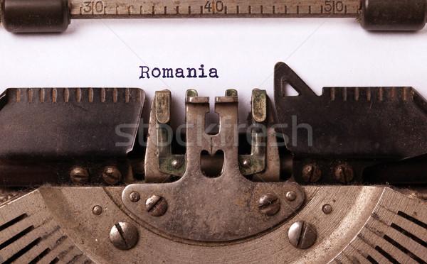 Edad máquina de escribir Rumania vintage país Foto stock © michaklootwijk