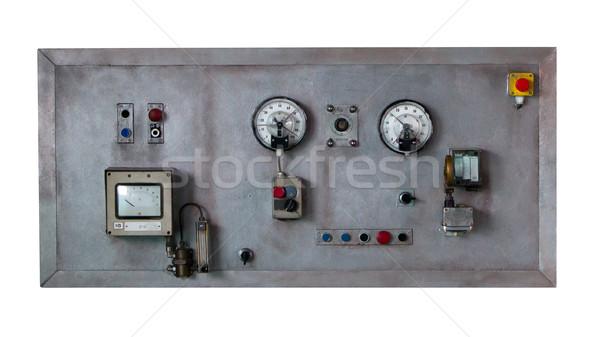 素朴な コントロールパネル 古い マシン グランジ ストックフォト © michaklootwijk