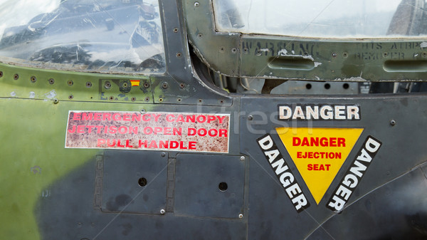 Close-up of a Vietnam war airplane Stock photo © michaklootwijk