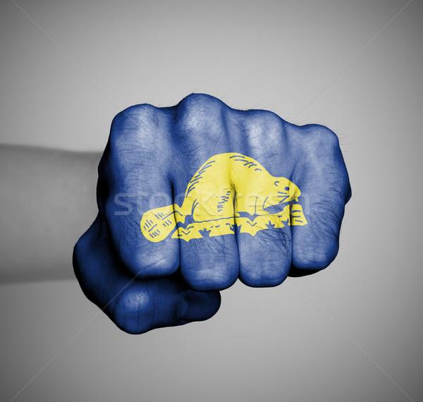 Соединенные Штаты кулаком флаг Орегон спортзал энергии Сток-фото © michaklootwijk