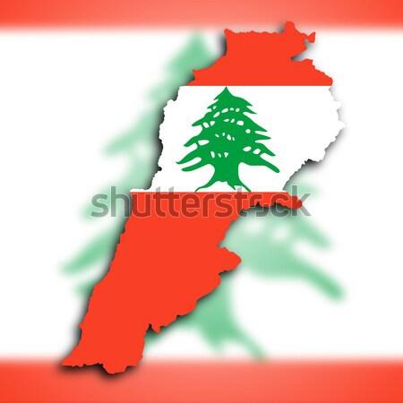 Ливан карта флаг внутри изолированный белый Сток-фото © michaklootwijk