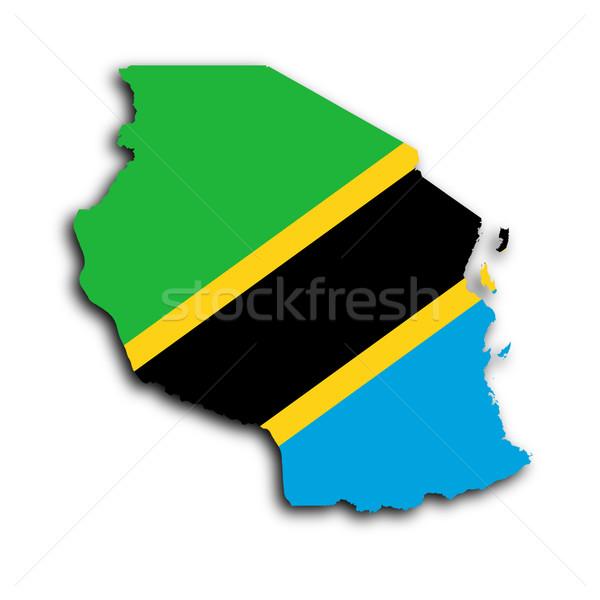 Karte Tansania Reise Afrika Anlage Land Stock foto © michaklootwijk