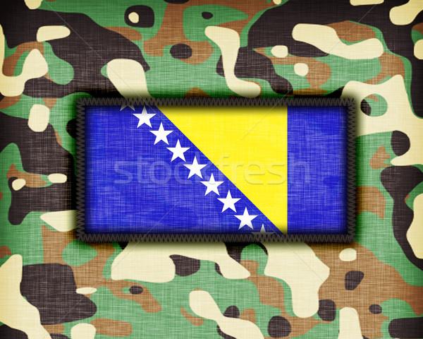 Uniforme Bosnia Herzegovina bandera textura resumen Foto stock © michaklootwijk