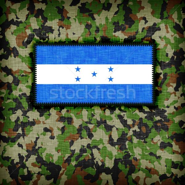 Kamuflaż uniform Honduras banderą tekstury streszczenie Zdjęcia stock © michaklootwijk