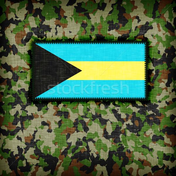 álca egyenruha Bahamák zászló textúra absztrakt Stock fotó © michaklootwijk