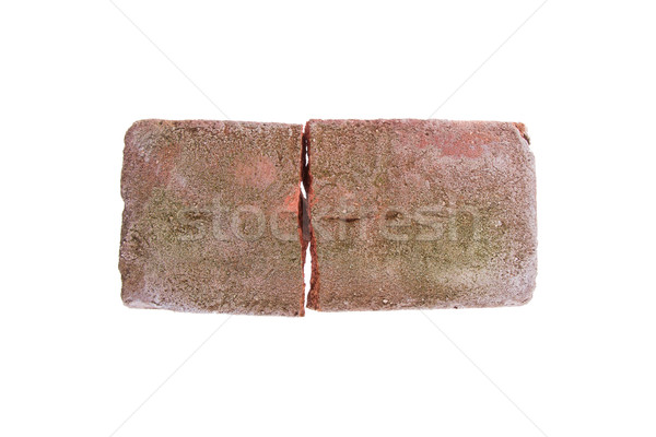 Broken brick isolated Stock photo © michaklootwijk