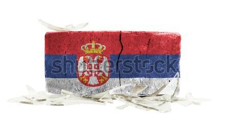 レンガ 割れたガラス 暴力 フラグ スワジランド 壁 ストックフォト © michaklootwijk