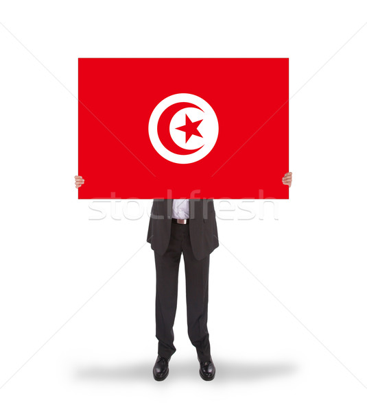 бизнесмен большой карт флаг Тунис Сток-фото © michaklootwijk