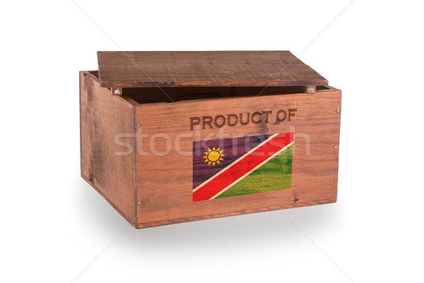Stock fotó: Fából · készült · láda · izolált · fehér · termék · Namíbia