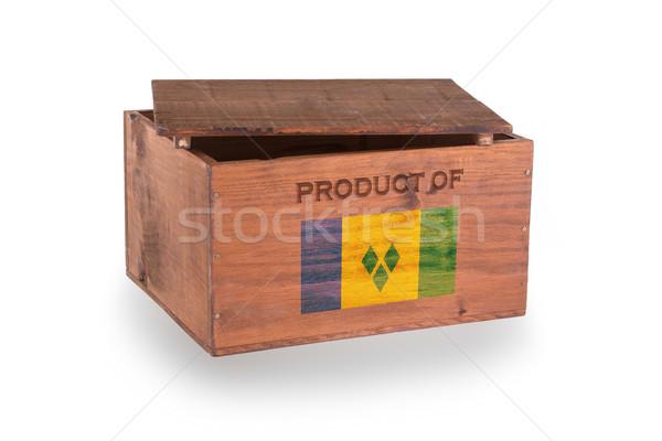 Stock fotó: Fából · készült · láda · izolált · fehér · termék · szent