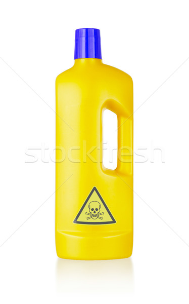 Plástico garrafa venenoso isolado branco azul Foto stock © michaklootwijk
