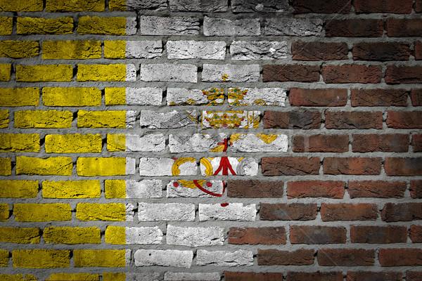 暗い レンガの壁 バチカン テクスチャ フラグ 描いた ストックフォト © michaklootwijk