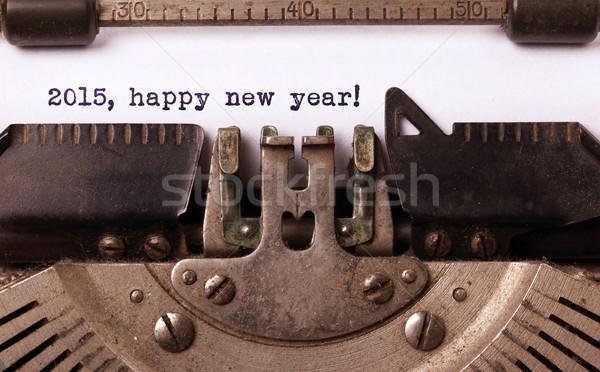 Сток-фото: Vintage · старые · машинку · 2015 · с · Новым · годом