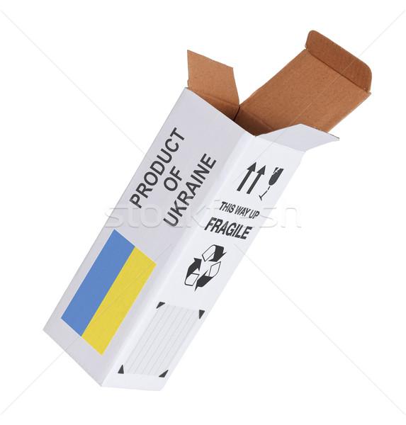 エクスポート 製品 ウクライナ 紙 ボックス ストックフォト © michaklootwijk