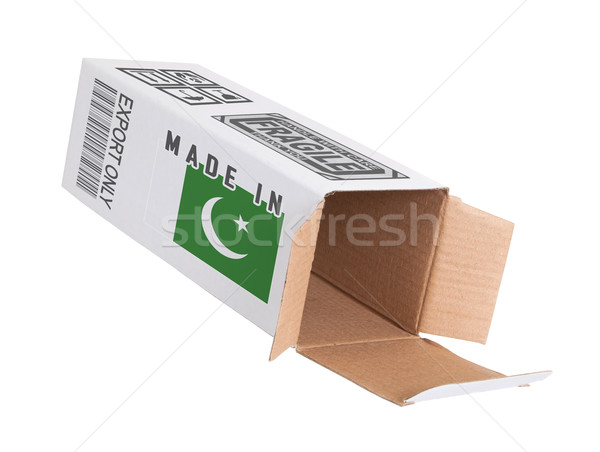 Exporteren product Pakistan papier vak Stockfoto © michaklootwijk