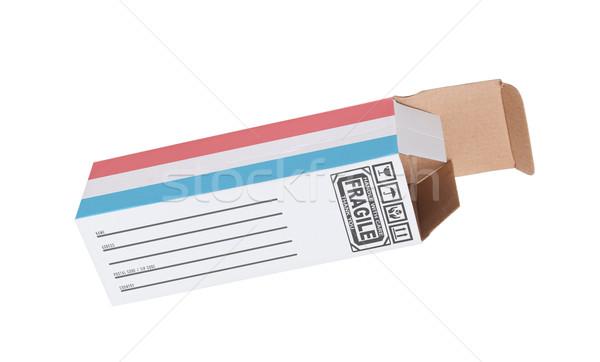 Eksport produktu Luksemburg papieru polu Zdjęcia stock © michaklootwijk