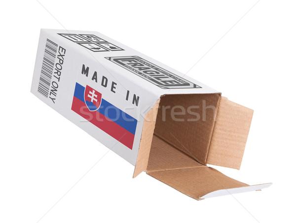 Foto stock: Exportar · produto · Eslováquia · papel · caixa