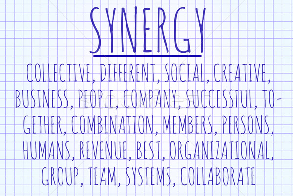 Synergy word cloud Stock photo © michaklootwijk