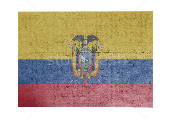 большой 1000 частей Эквадор флаг Сток-фото © michaklootwijk