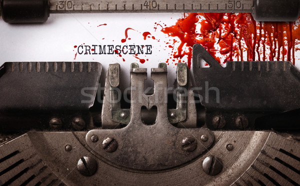Bloody note - Vintage inscription made by old typewriter Stock photo © michaklootwijk