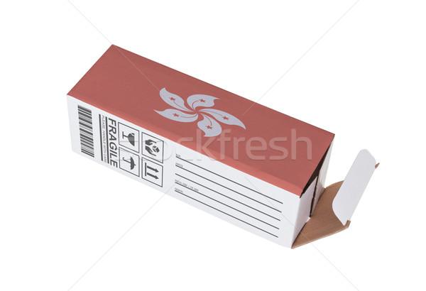 Exporter produit Hong-Kong papier boîte Photo stock © michaklootwijk