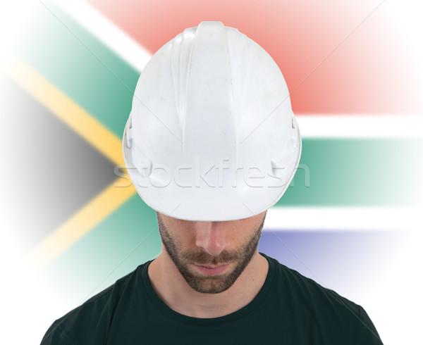 Ingenieur vlag South Africa geïsoleerd business bouw Stockfoto © michaklootwijk