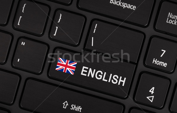 Enter button with flag UK- Concept of language Stock photo © michaklootwijk