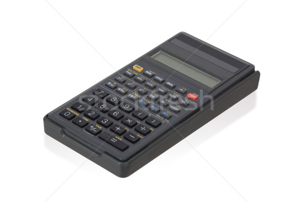 Dirty old calculator isolated Stock photo © michaklootwijk