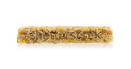 мюсли Бар яблоко орехи сахар изолированный Сток-фото © michaklootwijk