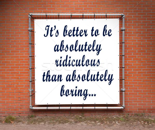 Bannière inspiré citer mur de briques mieux Photo stock © michaklootwijk