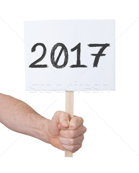 Sign with a number - The year 2017 Stock photo © michaklootwijk
