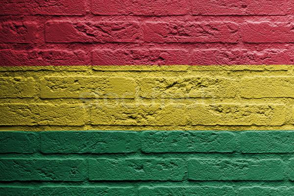 Téglafal festmény zászló Bolívia izolált űr Stock fotó © michaklootwijk