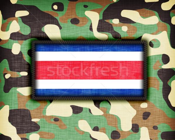 Amy camouflage uniform, Costa Rica Stock photo © michaklootwijk