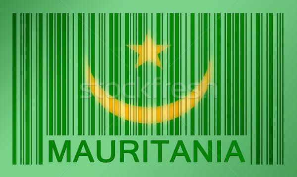 штрих флаг Мавритания окрашенный поверхность дизайна Сток-фото © michaklootwijk