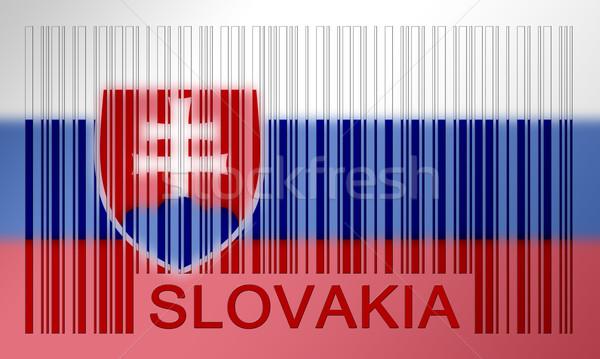 Código de barras bandeira Eslováquia pintado superfície projeto Foto stock © michaklootwijk