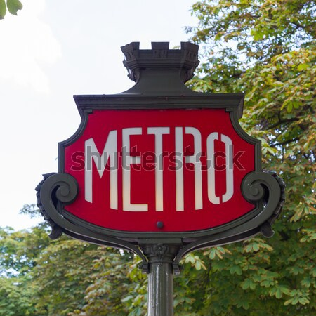 Paris metro subway sign Stock photo © michaklootwijk