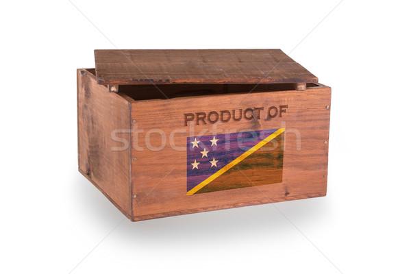 Stock fotó: Fából · készült · láda · izolált · fehér · termék · Salamon-szigetek