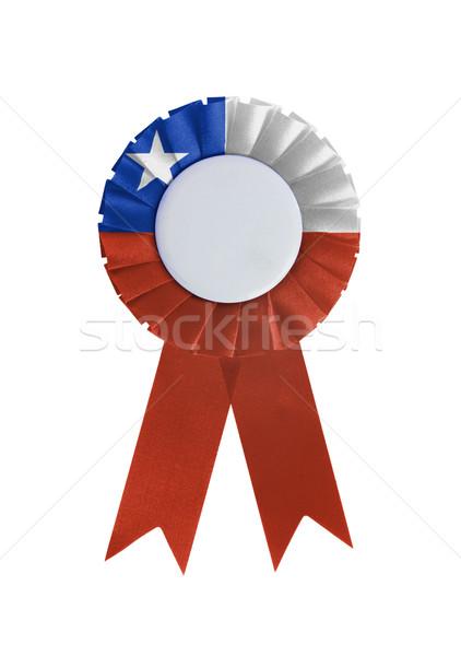 Prêmio fita isolado branco Chile fundo Foto stock © michaklootwijk