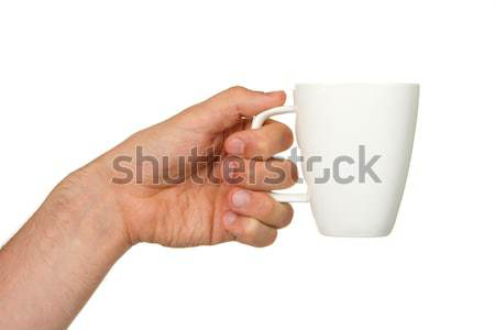Man holding a cup of coffee Stock photo © michaklootwijk